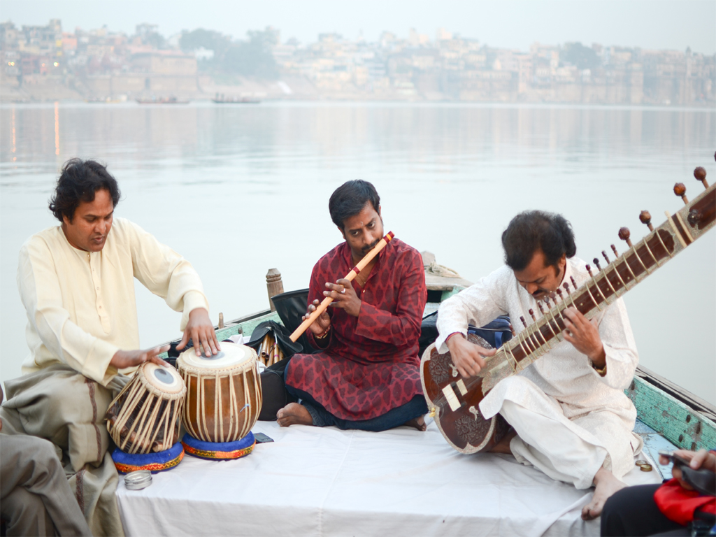 La musique traditionnelle indienne.